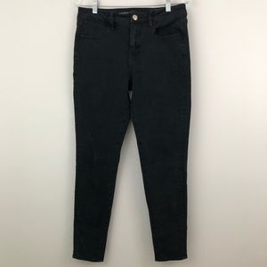 AEO Hi Rise Jeggings Skinny Jeans Black Stretchy